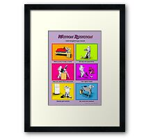 Motion Rotation - Life working from home (purple) Framed Print