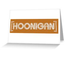 HOONIGAN retro sensor bar Greeting Card