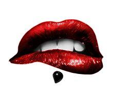 Metallic Lips (White) Photographic Print