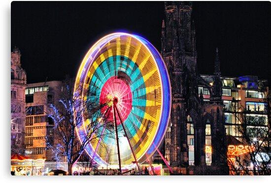 Edinburgh's Christmas Ferris Wheel by Andrew Ness - www.nessphotography.com