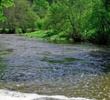 The River Dove Beneath Coldwall Bridge  Sticker