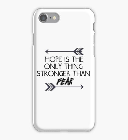 The hunger games quote design iPhone Case/Skin