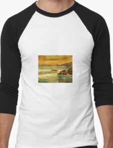 Seascape 2 Men's Baseball ¾ T-Shirt