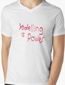 Yodeling is power  Mens V-Neck T-Shirt
