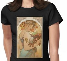 'Fruit' by Alphonse Mucha (Reproduction) Womens Fitted T-Shirt