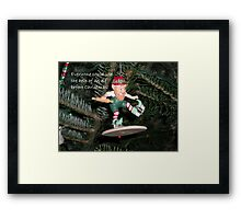 The Help of an Elf Framed Print