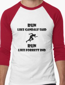 Run. Men's Baseball ¾ T-Shirt