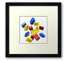 Falling Toy Bricks Framed Print