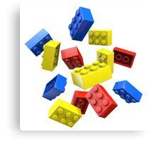 Falling Toy Bricks Canvas Print
