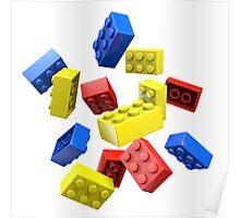 Falling Toy Bricks Poster