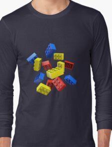 Falling Toy Bricks Long Sleeve T-Shirt