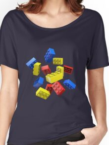 Falling Toy Bricks Women's Relaxed Fit T-Shirt