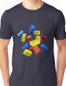 Falling Toy Bricks Unisex T-Shirt
