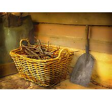 The Wood Basket . . . Photographic Print