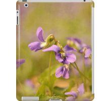 Playful Wild Violets iPad Case/Skin