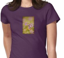 Playful Wild Violets Womens Fitted T-Shirt
