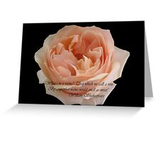 That which we call a rose Greeting Card