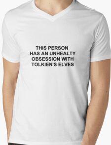 Obsession elves Mens V-Neck T-Shirt