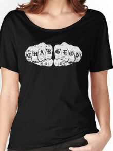 Charge On Knuckles (White ) Women's Relaxed Fit T-Shirt