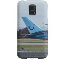 Thomson 787 Dreamliner departing Manchester Airport Samsung Galaxy Case/Skin