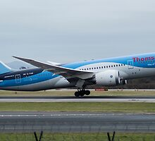 Thomson 787 Dreamliner departing Manchester Airport by PlaneMad1997