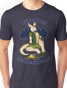 Outdoors: It's Everywhere Unisex T-Shirt