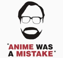 """Anime Was A Mistake"" - Black Design One Piece - Short Sleeve"