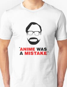 """Anime Was A Mistake"" - Black Design T-Shirt"