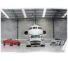 MY09 Aston Martins - DBS, DB9 and V8 Vantage Roadster Poster
