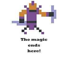 Anti-mage - The magic ends here Photographic Print