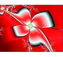 Red Asian Floral Photographic Print
