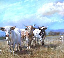 'Kefford's Cattle I' by Lynda Robinson