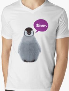 Meow. Mens V-Neck T-Shirt