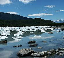 Patagonia, icebergs at Onelli bay by Peter Zentjens