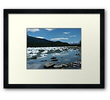 Patagonia, icebergs at Onelli bay Framed Print