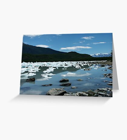 Patagonia, icebergs at Onelli bay Greeting Card