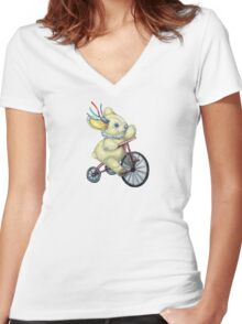 Pooky Triking Women's Fitted V-Neck T-Shirt