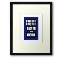 It's Bigger on the Inside Framed Print