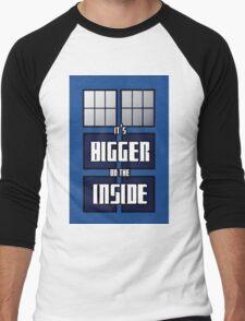 It's Bigger on the Inside Men's Baseball ¾ T-Shirt