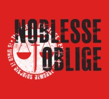 Noblesse oblige t-shirt / Phone case / More by zehel