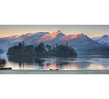 Derwent Island and Cat Bells Photographic Print
