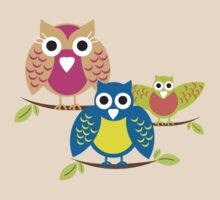 owls branch T-shirt  by teegs