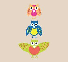 3 wise owls Womens Fitted T-Shirt