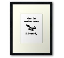 When the zombies come....Crossbow Framed Print