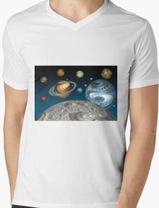 To The Moon And Beyond Mens V-Neck T-Shirt