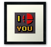 I Love You - Super Smash Bros. Framed Print