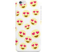 heart eye emojis iPhone Case/Skin