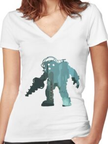 Rapture Big DaddySilhouette Women's Fitted V-Neck T-Shirt