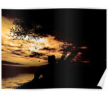 A fairy at sunset  Poster