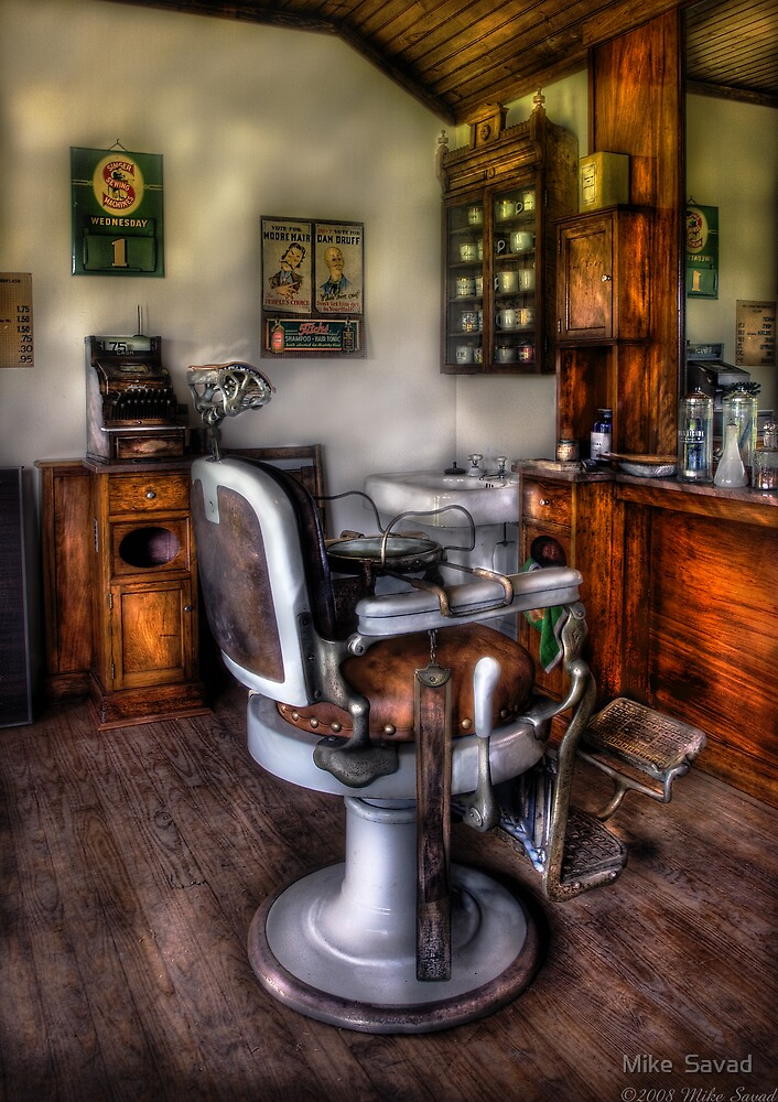 The Barber Chair by Mike  Savad